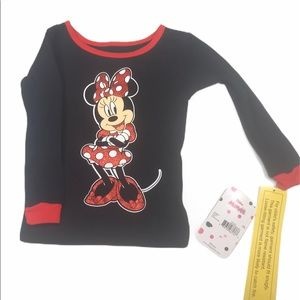 Disney Jr Girls Minnie PJ Top 2T 1 Pc No Bottom